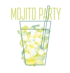 concept poster of mojito cocktail vector image