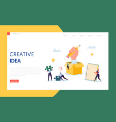 creative idea business technology landing page vector image