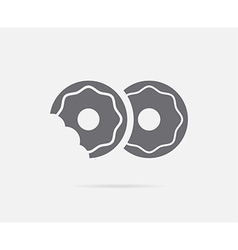 Donuts with Glaze Topping Element or Icon Ready vector
