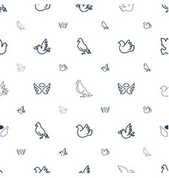 Dove icons pattern seamless white background vector