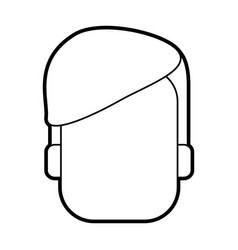 Faceless head of man icon image vector