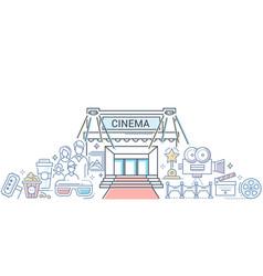 film festival - modern line design style vector image