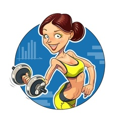 Fitness Sporting girl with vector