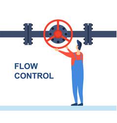 flow control concept vector image