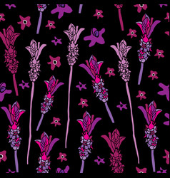 french lavender-love in parise seamless repeat vector image