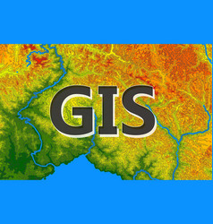 Geographic information systems gis cartography vector