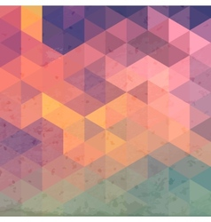 Geometric background with grunge texture Retro vector image