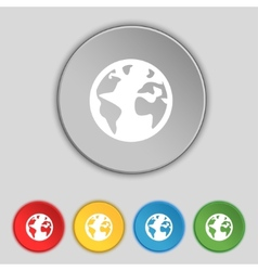 Globe sign icon World map geography symbol Globes vector image