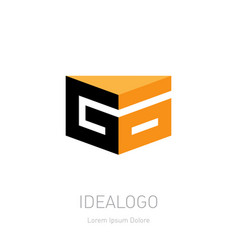 go initial 3d logo design element or 3d icon g vector image