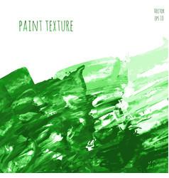Green hand paint watercolor vector