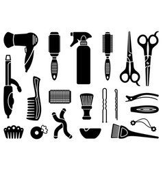 hairdressers accessories vector image
