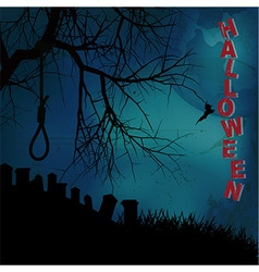 Hallooween background with hangman noose text and vector image