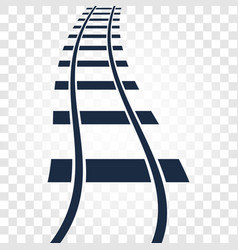 isolated rails railway top view ladder elements vector image