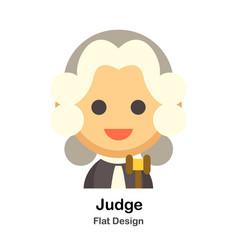 Judge flat vector