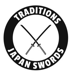 Katana logo simple black style vector