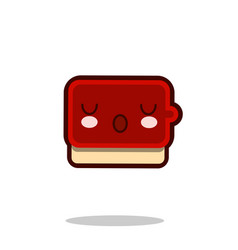 ketchup sauce cartoon character icon kawaii fast vector image