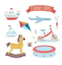 kids toy set vector image