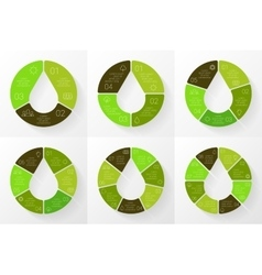linear circle eco infographic Ecology vector image