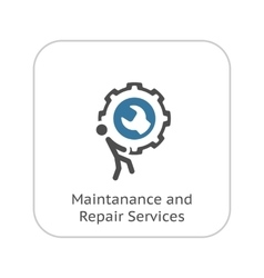 Maintanance and Repair Services Icon Flat Design vector