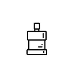 mouthwash dental liquid oral icon in black vector image