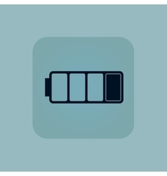 Pale blue low battery icon vector