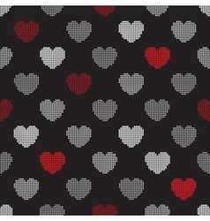 Pattern from halftone hearts vector