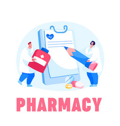 Pharmacy health care concept doctor character vector