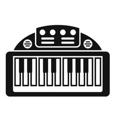 Piano toy icon simple style vector