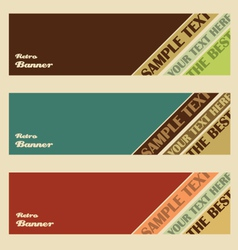 retro banner set vector image