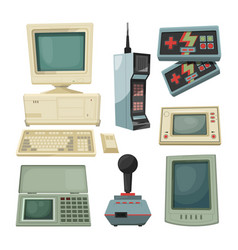 retro of technicians gadgets vector image