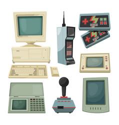 Retro technicians gadgets vector