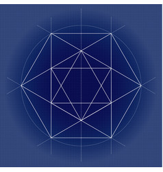 Sacred geometry on technical vector