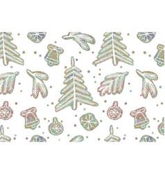 Seamless cute cartoon stars pattern vector