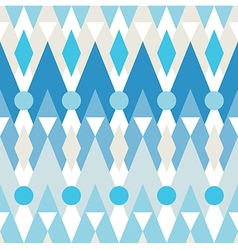 Seamless pattern of geometric elements vector image