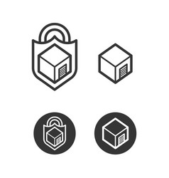 Self storage cube logo icon vector