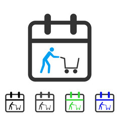 Shopping day flat icon vector