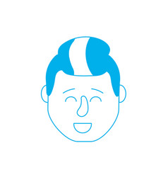 Silhouette avatar man head with hairstyle design vector