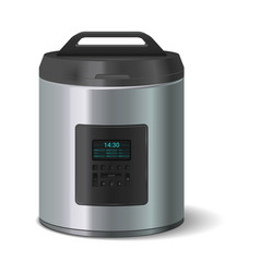 slow cooker electronic household device kitchen vector image