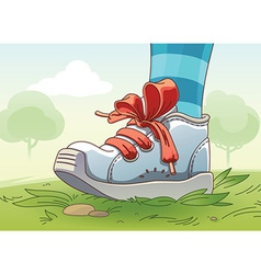 Small Sneaker on the Grass vector