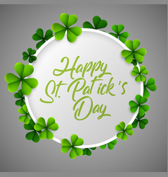 st patricks day background with green vector image