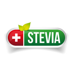 Stevia - Natural Sweetener label vector image