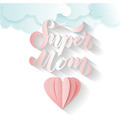super mom text for card vector image