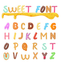 sweets cookies and bakery font design kids style vector image