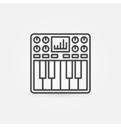 Synthesizer icon or symbol vector image