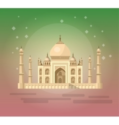 Taj Mahal an ancient Palace vector
