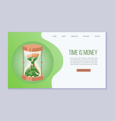 time is money website template dollars vector image