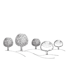 Trees hand drawn vector image vector image