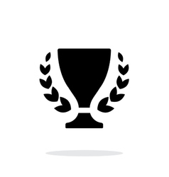 Trophy and awards icon on white background vector image