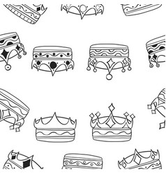 various crown pattern style collection vector image