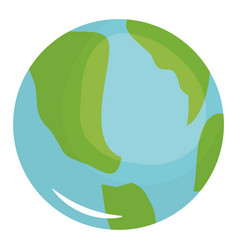 World map planet education icon vector